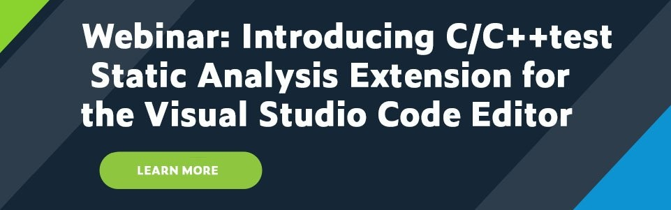 Webinar: Introducing C/C++test Static Analysis Extension for the Visual Studio Code Editor