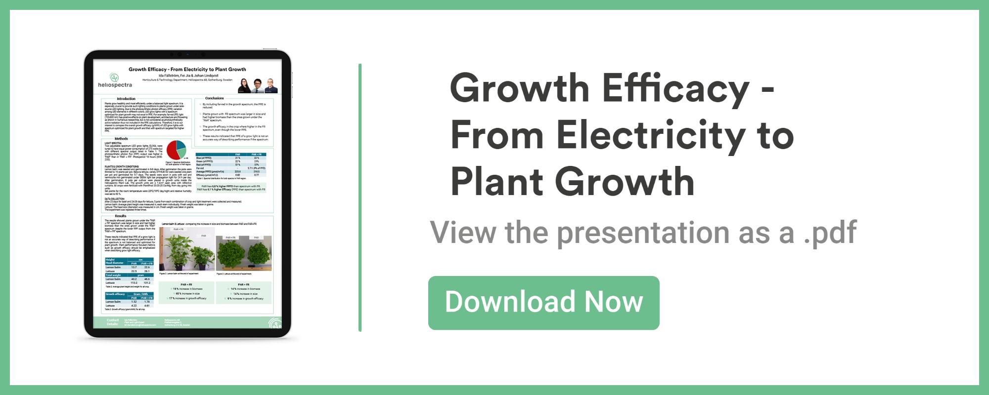 Growth Efficacy