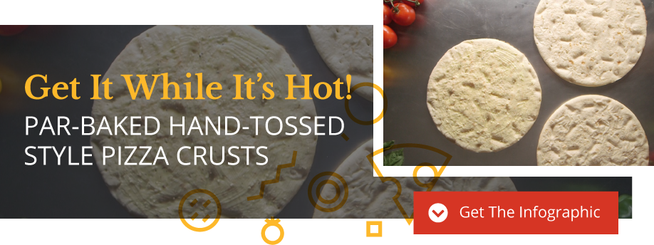 Par-Baked Hand-Tossed Style Pizza Crusts Infographic