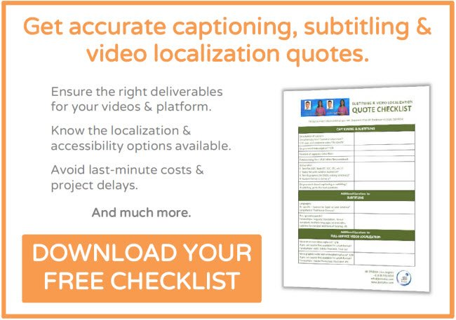 Click to download JBI Studio's Captioning, Subtitling & Video Localization Quote Checklist.
