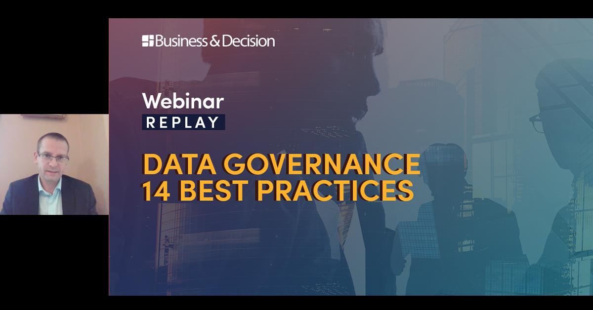 "Thumbnail for ""Data Governance, 14 best practices"" webinar replay"