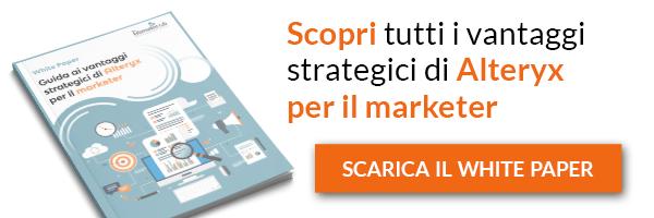 Clicca qui e scarica il White Paper: Guida ai vantaggi strategici di Alteryx per il marketer