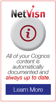 All of your Cognos content is automatically documented and always up to date in netvisn - learn more