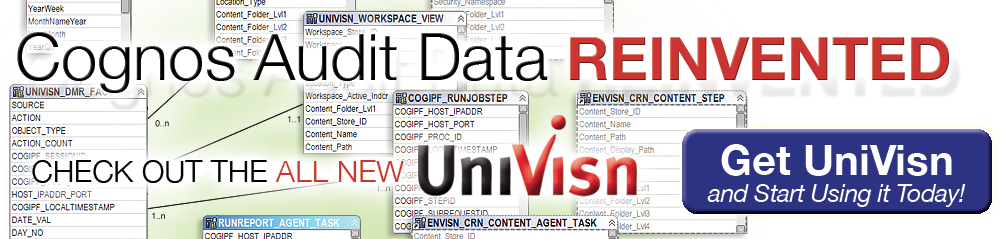 cognos audit data reinvented get the all new univisn