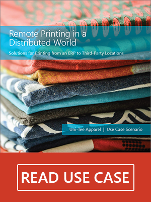 secure remote printing from SAP ERP systems