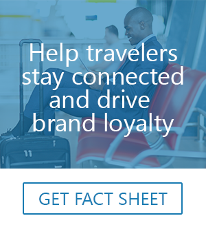 secure mobile printing for airport lounges
