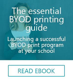 secure BYOD printing ebook for education