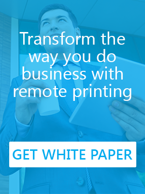 Secure remote printing white paper from PrinterOn