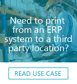 secure remote printing for ERP systems from PrinterOn