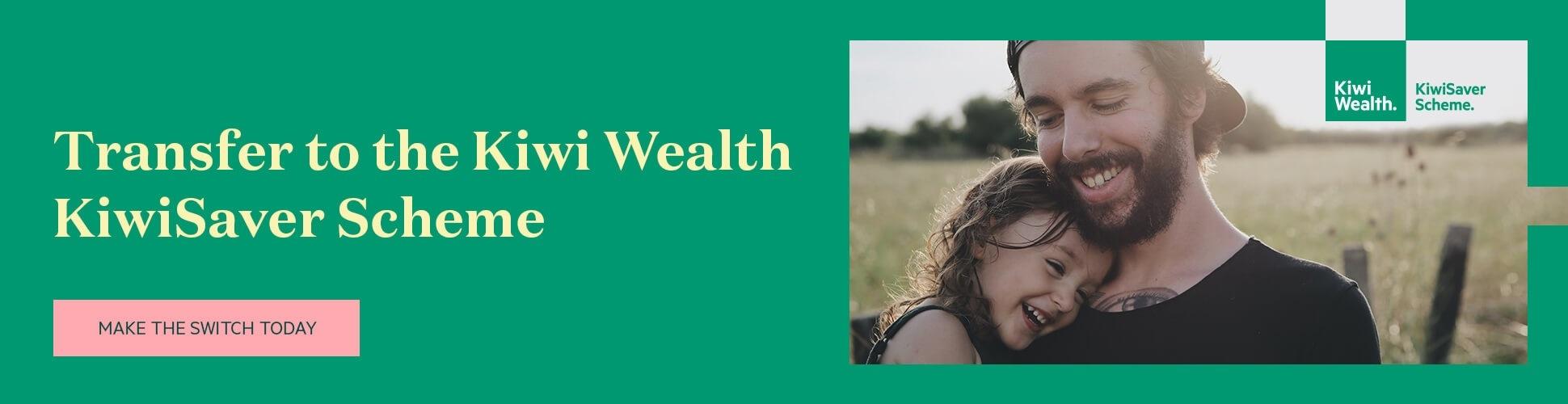 kiwi wealth kiwisaver product banner - landscape