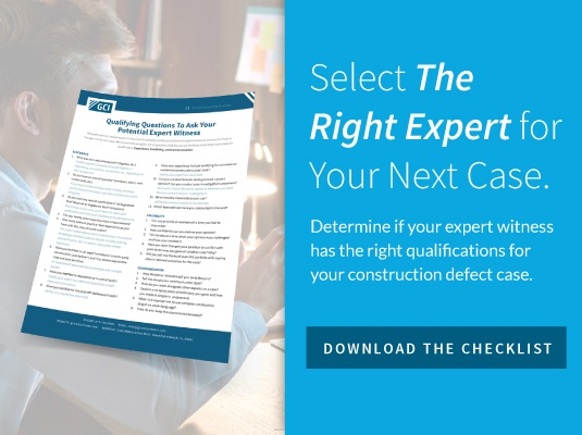 Select the right expert for your next case. Download the checklist
