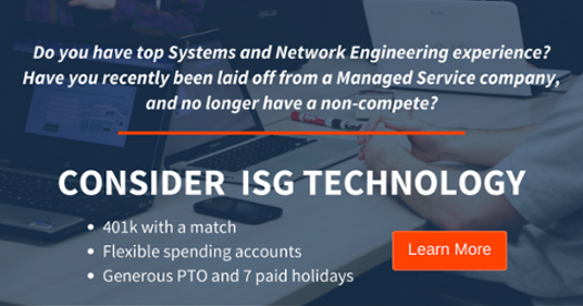 Join the ISG Technology Team