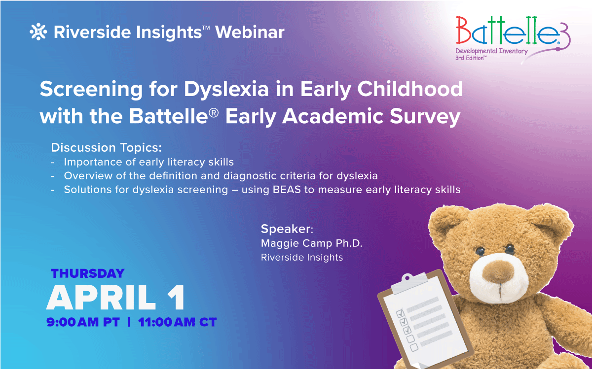 Screening for Dyslexia in Early Childhood with the Battelle Early Academic Survey