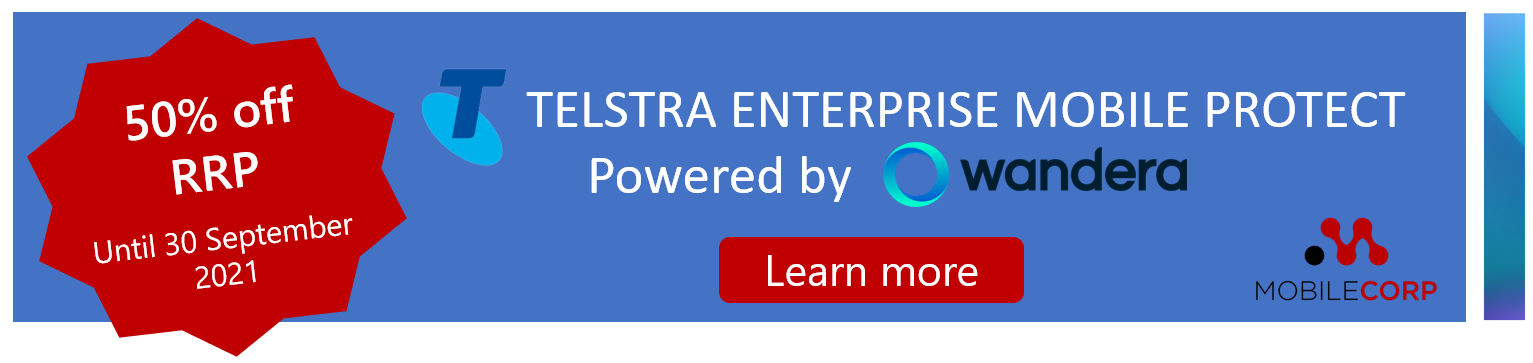 Telstra Enterprise Mobile Protect promotion - Learn more
