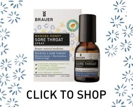 Brauer Natural Medicine Manuka Sore Throat Spray
