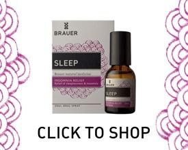 Sleep well with Brauer Natural Medicine Oral Spray