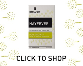 Click to Shop Hayfever Tablets by Brauer Natural Medicine