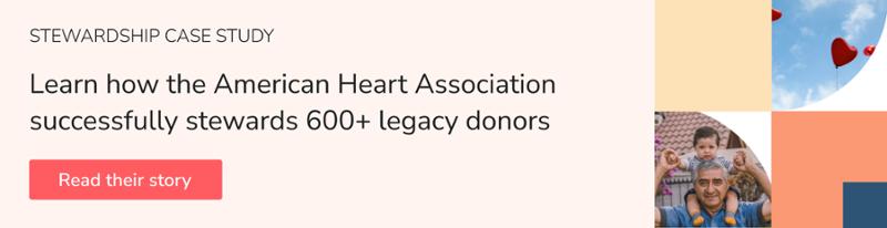 American Heart Association donor stewardship plan case study
