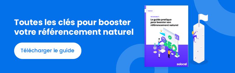 CTA Ebook Booster son référencement naturel