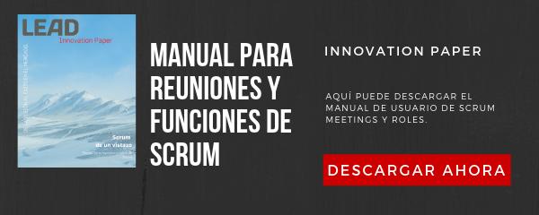 Manual para reuniones y funciones de Scrum