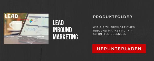 Produktfolder LEAD Inbound Marketing