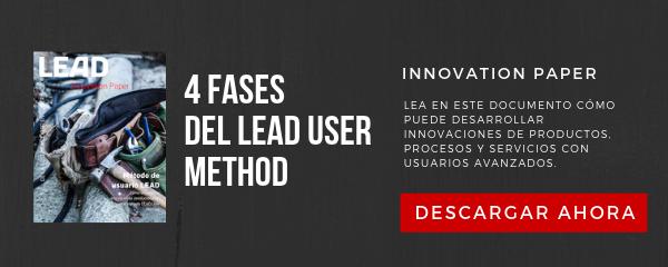 Las 4 fases del LEAD User Metodo