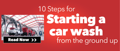 10 Steps for starting a car wash