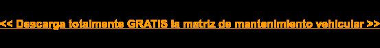 << Descarga totalmente GRATIS la matriz de mantenimiento vehicular >>