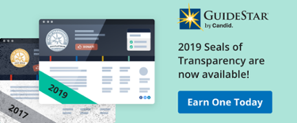 2019 Seals of Transparency are now available!
