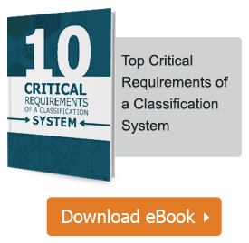Top ten Critical Requirements of a classification system