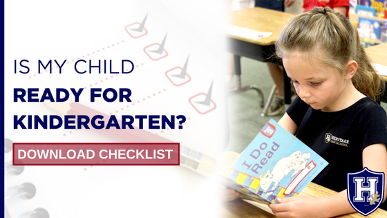 Kindergarten Readiness Checklist | Heritage Oak School