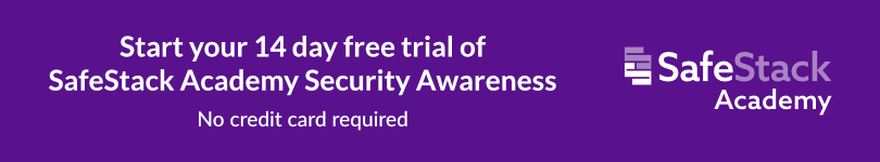 SafeStack Academy Security Awareness Free Trial CTA