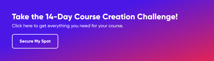 Join Our 14-Day Course Creation Challenge