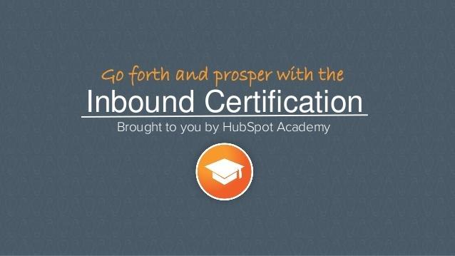 Инбаунд маркетингийн сертификат олгох үнэгүй онлайн сургалт