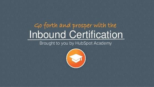 Inbound Certification