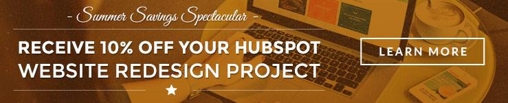 HubSpot Website Redesign Savings