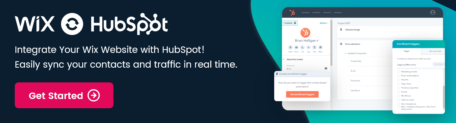 wix+hubspot integration