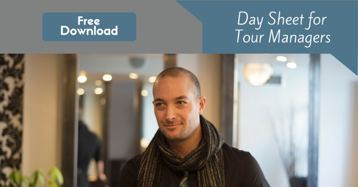 Day Sheet for Tour Manager Download