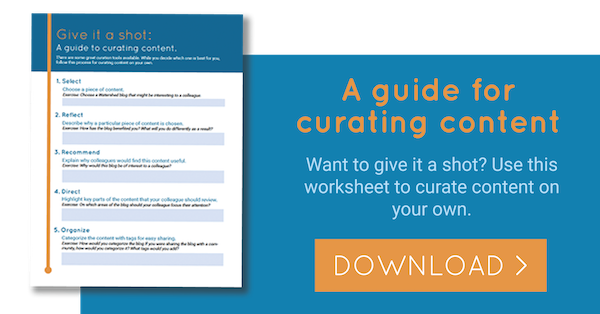 Distributed Learning Content Curation Guide