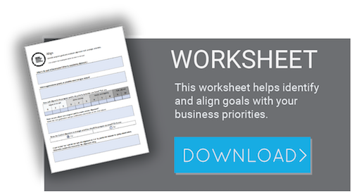 Use this worksheet to align learning programs with business goals.