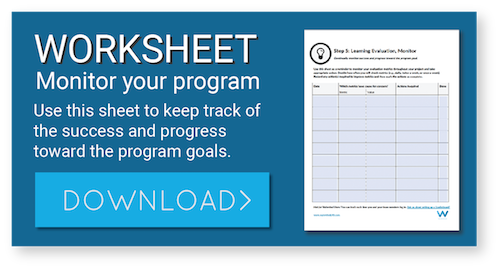 Use this worksheet to monitor learning programs.