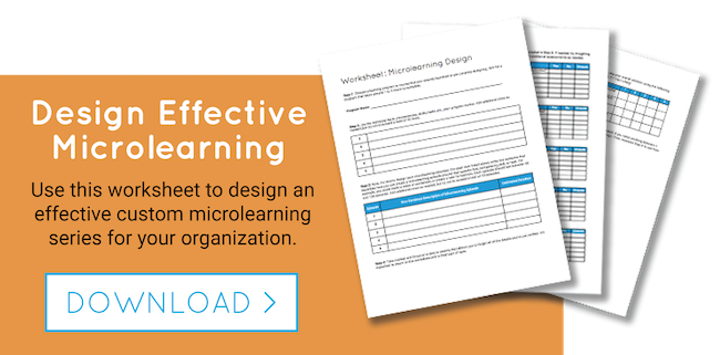 Use this microlearning template to design your own L&D programs.