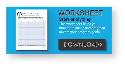 Use this learning evaluation worksheet to analyze learning programs.