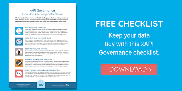 xAPI Governance Checklist