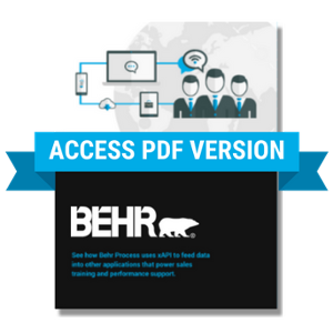 Open PDF version of Behr xAPI Case Study