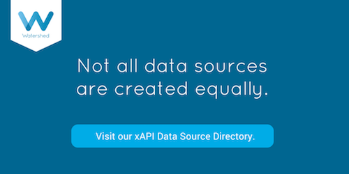Watershed xAPI Data Sources