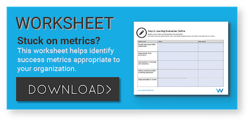 Use this learning evaluation worksheet to find success metrics.