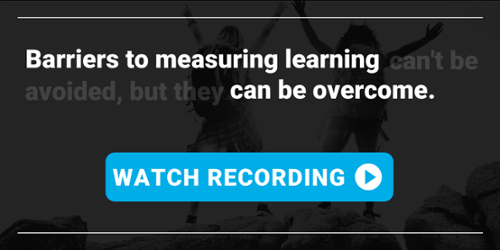 "Watch the ""Measuring Business Impact of Learning"" webinar recording"