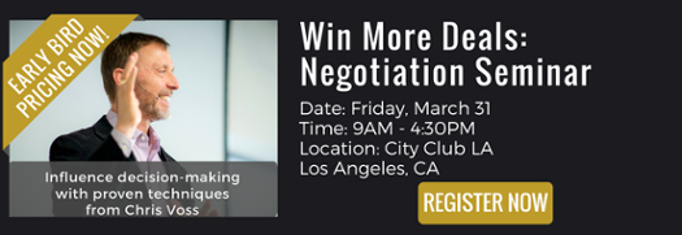 negotiation seminar, win more deals