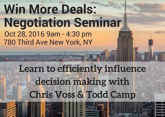 Win More Negotiation Seminar in NYC